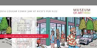 Wsu Campus Map 2016 Cougar Comix Jam Hosted By Museum Wsu At Rico U0027s Pub Wsu