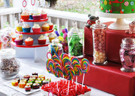 dessert candy buffet station kid cupcakes cookie party a