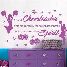 Good Bedroom Quotes Cheer Cheerleaders Girls Stars Vinyl Wall Decor Mural Quote