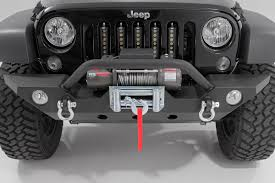 Full Width Black Front Winch Bumper For 07 17 Jeep Wrangler Jk