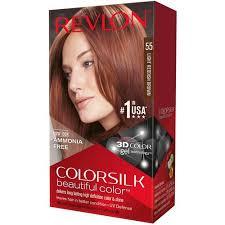 light reddish brown color revlon colorsilk beautiful color permanent hair color 55 light