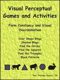 Visual Discrimination Worksheets Visual Perceptual Games And Activities U2013 Form Constancy And Visual