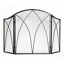 Single Fireplace Screen by Plain Decoration Arched Fireplace Screen Black Wrought Iron Single