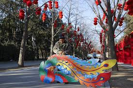 Lunar New Year 2016 Decorations by People Prepare For The Chinese Spring Festival Photos And Images