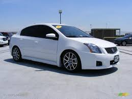 white nissan sentra 2008 2007 fresh powder white nissan sentra se r spec v 30367937 photo