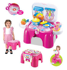 Kitchen Set Toys For Girls Buy Toys Bhoomi 2 In 1 Carry On Kitchen Play Set Chair With Lights