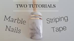 how to marble stone nails with striping tape two detailed