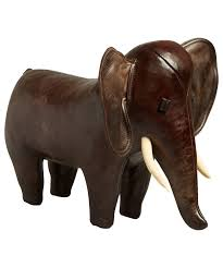 omersa small leather elephant home decor by omersa liberty co
