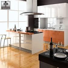 Furniture Kitchen Set 3d Model Kitchen Set Cgtrader