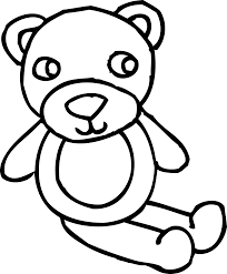 teddy bear toy coloring page free clip art