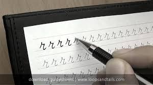 learn cursive handwriting lowercase r youtube