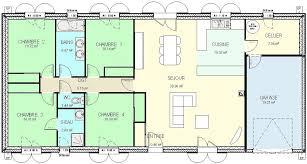 plan de maison gratuit 4 chambres plan maison plain pied 4 chambres en u madame ki de