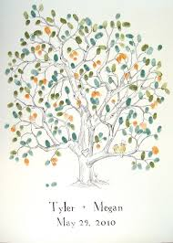 tree signing for wedding wedding thumbprint tree guestbook i totally heart