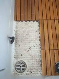 custom teak mat for walk in shower the bath teak