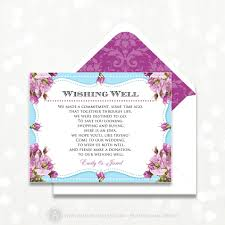Direction Cards For Wedding Invitations Printable Wishing Well Card Wedding Information Card