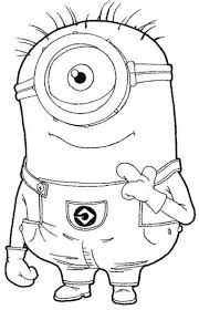 one new minion coloring pages to print glum me
