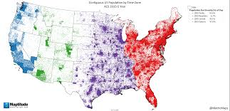 Pacific Time Zone Map Us Population By Time Zone U2013 Metricmaps