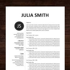 designer resume template cv professional template cv template word or mac pages instant
