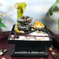 indoor tabletop zen garden waterfall water fountain indoor zen