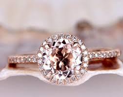 morganite gold engagement ring morganite ring etsy