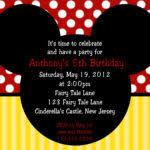 tips easy to create mickey mouse birthday invitations ideas