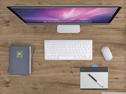 Imac Desk by Imac Desk Hd Desktop Wallpaper Widescreen High Definition