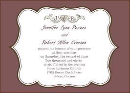 simple wedding invitation wording informal wedding invitation wording brides parents hosting church