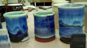 cone 6 electric blue glaze combinations youtube