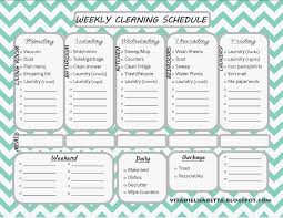 House Cleaning List Template List Junkie Weekly Cleaning Schedule Free Printable Dandelion