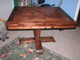 Free Small Wooden Table Plans by Ana White Square Pedestal Table Diy Projects