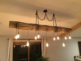 diy chandelier hand hewn reclaimed barn beam with dimmable led