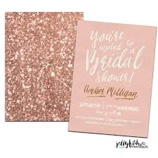 rose gold bridal shower invitation customized for you diy