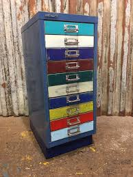 Retro Filing Cabinet Metal Filing Drawers Vintage Cabinet Industrial Office Upcycled