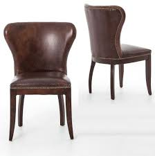 High Back Brown Leather Dining Chairs Chairs Stunning Wingback Dining Chairs Wingback Dining Chairs