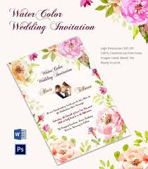 wedding invitation exle creative water color wedding invitation card template