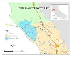 Map Of Sonoma County Gualala River Maps Friends Of Gualala River