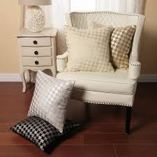 High Wing Back Dining Room Chairs Bathroom Tufted Wingback Chairs And Houndstooth Chair