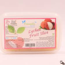 lychee fruit buy 250 gms lychee fruit slice by pramukh foods from ahmedabad