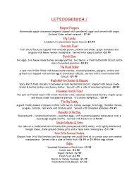menu for brunch brunch menu the porch