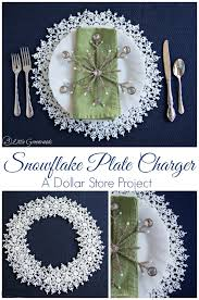 Table Setting Chargers - diy snowflake plate charger an easy christmas tablescape idea