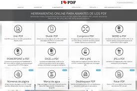 varias imagenes a pdf online herramientas online para trabajar con documentos pdf parapnte