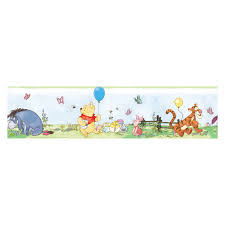 Wallpaper Borders For Kids Winnie The Pooh Toddler Peel And Stick Border Hayneedle