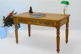 Schreibtisch Kirschbaum Schreibtisch Bürotisch Esstisch Massivholz Kirschbaumfarbton Antik