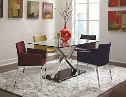 Large White Shag Rug Dining Room Classy Modern Small 2017 Dining Room With Glass