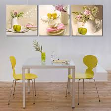 painting for kitchen modern canvas painting for kitchen wall decor hang tableware apple