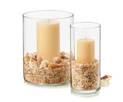 seasonal vase supplies glass vase sand shells candle directions