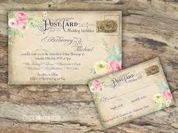 postcard wedding invitations 15 best vintage postcard wedding invitations images on