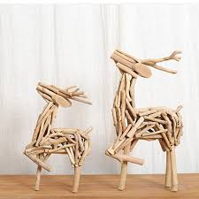 china creative wooden craft table decor lovely deer 100 handmade