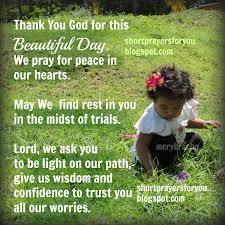 thank you god for this beautiful day prayer prayers