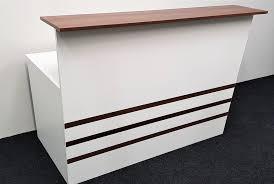 White Salon Reception Desk White Beauty Salon Reception Desk